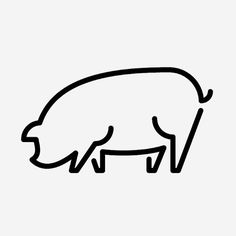 Pig! #sign #icons #picto #symbol #pictograms