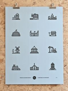 Tim Boelaars — Buildings #icon #design #icons #texture #illustration #posters #poster #paper