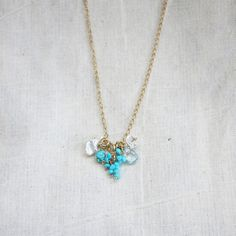 December Birthstone Necklace gold, jewelry, turquoise #jewelry #necklace