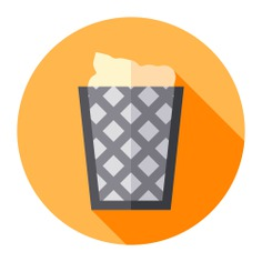 See more icon inspiration related to trash, basket, bin, furniture and household, Tools and utensils, wastes, waste can, waste bin, trash can, garbage, waste, trash bin, can and on Flaticon.