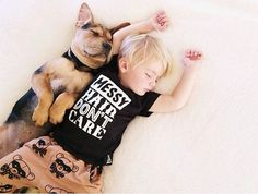 A Naptime Story with Dog and Baby – Fubiz™ #photography #baby #dog