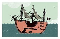 Misc. : OMG #oliver #water #illustration #ship #boat #disc #munday