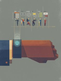 Wearables illustration by Dan Matutina #concept #illustration #wearables