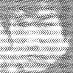 Scannable Barcode Portraits of Celebrities - My Modern Metropolis #barcode #bruce #lee #art