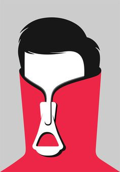 Shy Guy, by Noma Bar #inspiration #creative #design #graphic #illustration #character
