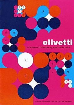 Olivetti Posterdesigned by Anna Monika Jost 1966by ninonbooks, via Flickr #via #olivetti #1966 #flickr #ninonbooks #poster #designed #anna #jost #monika
