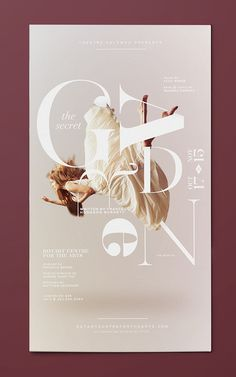 Secret Garden on Behance #dance #poster #typography