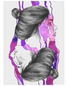 Girl on Behance #aquarel #alexandre #color #girl