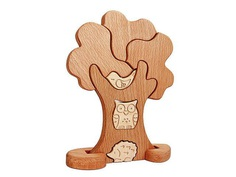 Деревянный пазл Дерево, игра пазл дерево