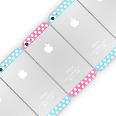 Polka Dot Top Bottom Glass Back Housing Cover For iPhone #gadget
