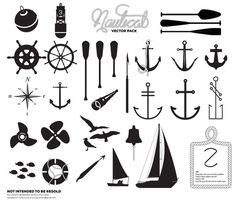 Premium Nautical Vector Pack - Registrationblack.com #ocean #vector #seagul #design #rope #sail #set #sea #pack #custom #anchor #nautical