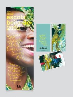 Beija Flor Exhibition - Poster & Flyer on the Behance Network #calligraphy #rio #flyer #de #illustration #poster #brazil #janeiro #typography