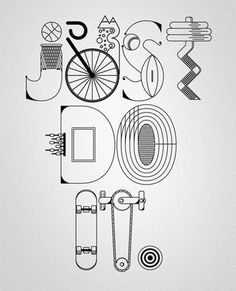 FFFFOUND! | NIKE x Type illustrations 2010 on the Behance Network #lettering