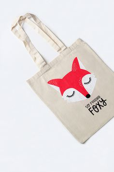 #nordic #design #graphic #illustration #danish #bright #simple #nordicliving #living #interior #kids #room #tote #bag #foxy #fox #red