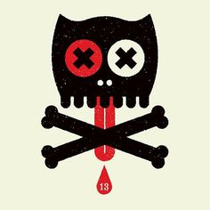 Twibfy #red #cat #black #logo #skull