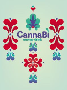Canna Bì Energy Drink on Behance #pattern #packaging #drink #graphic #colours #poster #energy