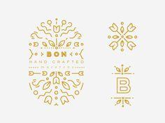 #logo #line #floral