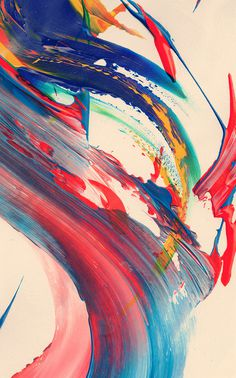 abstract #abstract #paint #blue #red