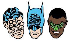 yay!everyday #vector #lantern #save #typography #batman #the #internet #superman #green