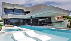 Imposing Family House in Madrid With a Futuristic Twist by A-cero