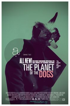 by buentypo: The planet of the dogs #illustration #art #poster #buentypo #bto