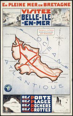 All sizes | Visitez Belle Ile en Mer. En pleine mer en Bretagne | Flickr Photo Sharing! #poster #travel #map