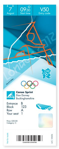 Creative Review Olympics ticket designs revealed #olympic #london #game #ticket