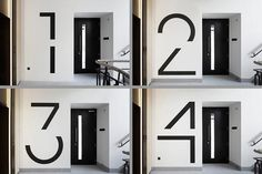 Bespoke floor numbers. Pic courtesy of Jack Hobhouse. #signage #graphic #inspiration #design