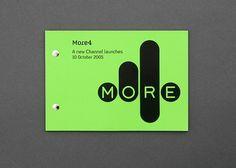 Spin — More4 #print #branding #identity