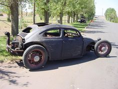 #vehicle #vw #bug #ratrod #black
