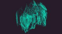 LAB KFKS #particles #design #animation #nastyakfks #gif #3d #turquoise