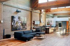 SF Loft | Wardell+Sagan Projekt #interior #loft #concrete #home #wood #kitchen #sf