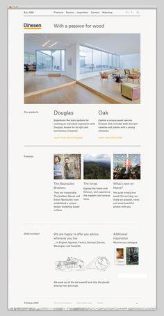 Dinesen #layout #website #web #web design