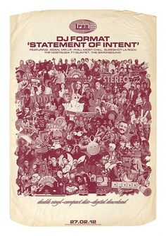 DJ Format Poster — DJ Format 'Statement Of Intent' Poster #krum #statement #format #of #dj #intent #mr