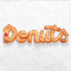Donuts type treatment. #typography #food #donuts #nicko phillips