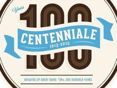 Dribbble - Centenni #beer #vector #design #icons #logo