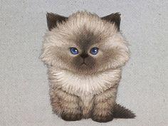 siamese cat #illustration #cat #watercolor #siamese cat