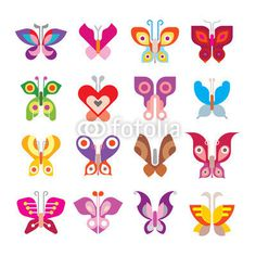 Butterfly icon set #butterflies #vector #icon #design #butterfly #symbol #element