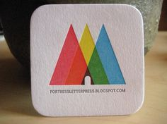 Más tamaños | new business card | Flickr: ¡Intercambio de fotos! #emboss #business #card #color #letterpress #triangle