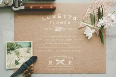 Loretta Flower #type #photography #floral #cardstock