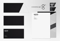 UGO's Barber Shop / identity #cut #business #card #barber #shop #scissors #black #identity #stationery #logo