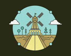 Tim Boelaars #design #illustration #windmill