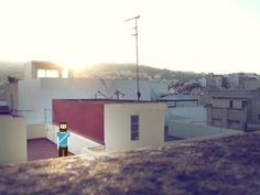 Dribbble - Tanger on the roof by David Slaager #pixelart #photo #tanger #pixel #photography