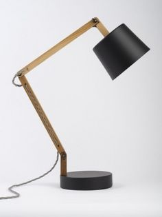 Black/Grey Angle Table Lamp 2.0 - Douglas + Bec