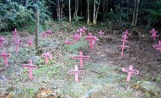 Environmental installation at festival | Flickr - Photo Sharing! #pink #cross #snask #graveyard #churchyard