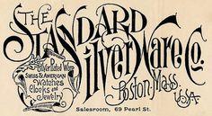 Standard Silver Ware Company | Sheaff : ephemera #lettering #retro #vintage #texture