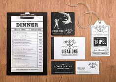 CommonerInc #americana #menu #richard #stewart #arthur #typography