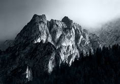 Monochromatic Alps on Behance #photography #travel #landscape