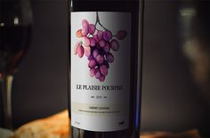 LE PLAISIR POURPRE - Wine Label on Behance