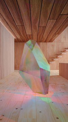 Crystal Series #wood #3D #iridiscent #animation #architecture #colour #minimal #crystal